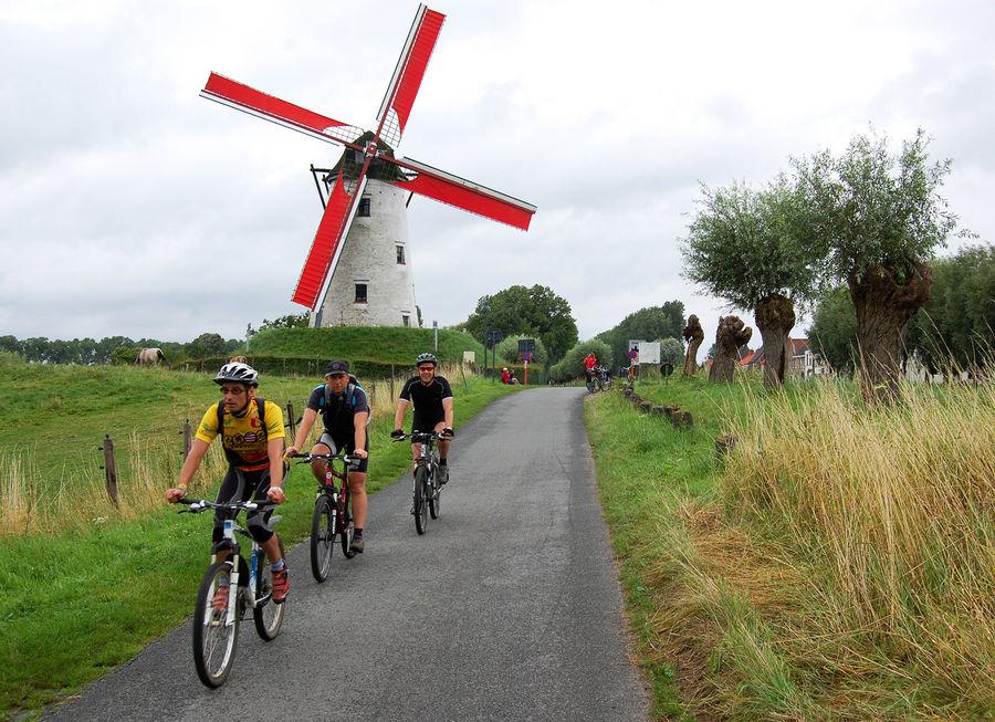 Bike path between Bruges and Damme, Belgium