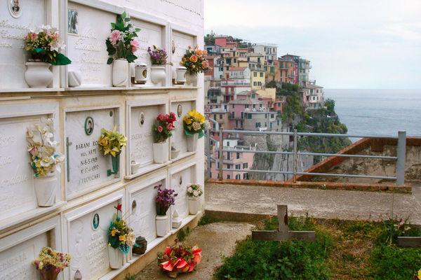 Hilltop cemetery, Manarola (Cinque Terre), Italy