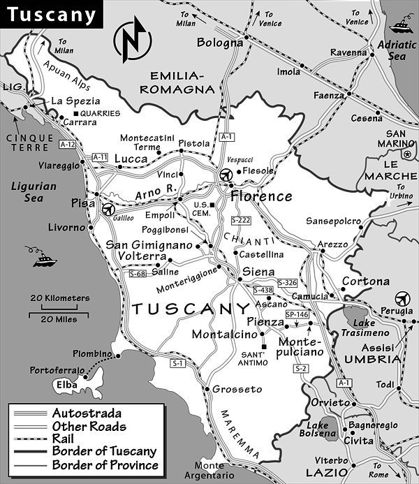 Tuscany Travel Guide By Rick Steves - Map tuscany