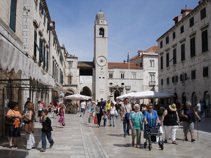 Strolling on the Stradun, Dubrovnik, Croatia