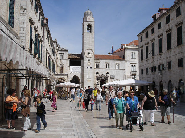 Strolling on the Stradun, Dubrovnik, Croatia