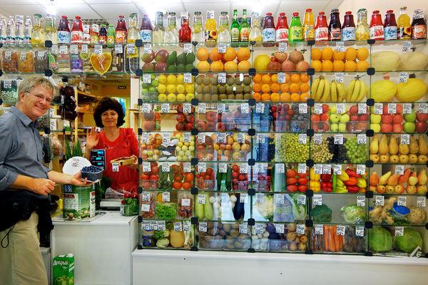 Mini-mart in St. Petersburg, Russia