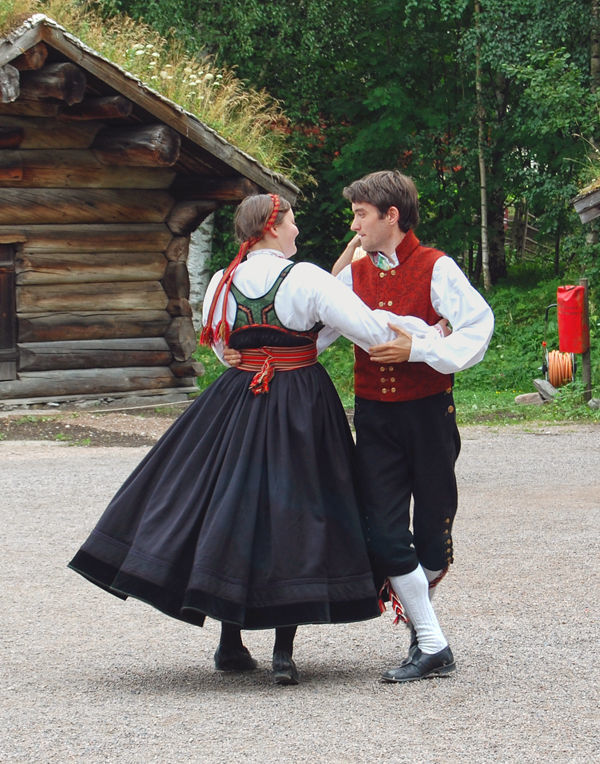 Dancers at Norwegian Folk Museum, Oslo, Norway