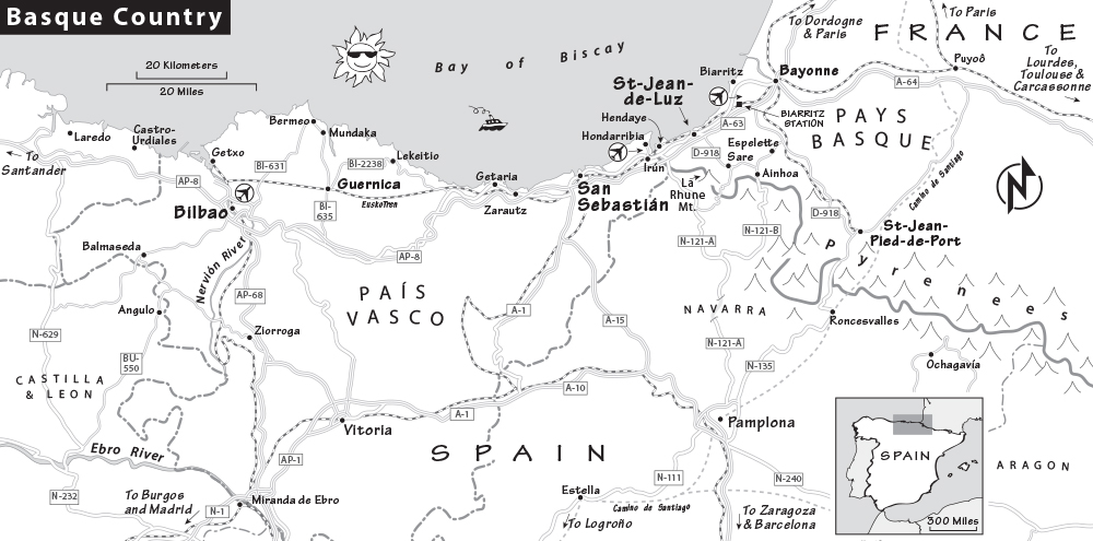 San Sebastian Map Of Spain.Spanish Basque Country Travel Guide Resources Trip Planning Info