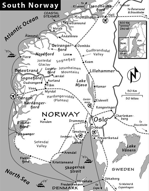 Norway Travel Guide By Rick Steves - Norway map to print
