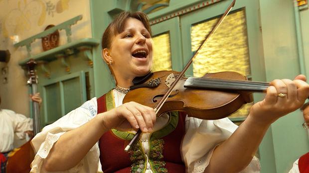 Musician in Pustevny, Czech Republic