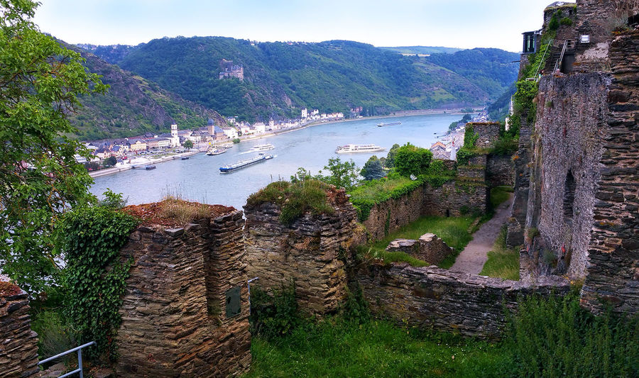Rhine River as seen from Burg Rheinfels, St. Goar, Germany