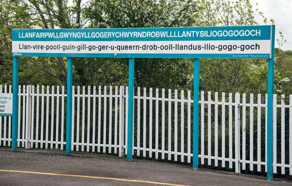 Railway station, Llanfairpwllgwyngyllgogerychwyrndrobwllllantysiliogogogoch, Wales (photo: Raphael Frey)