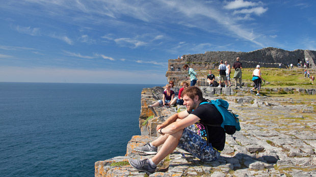 Dun Aengus clifftop, Inishmore, Aran Islands, Ireland