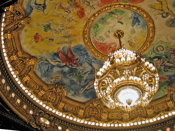Chagall ceiling, Opéra Garnier, Paris, France