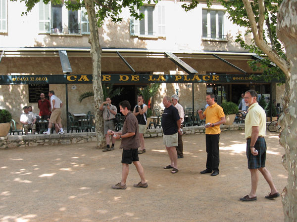 Boules game, St-Paul-de-Vence, France