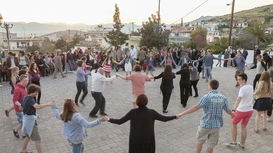 Dancing at Easter, Nafplio, Greece