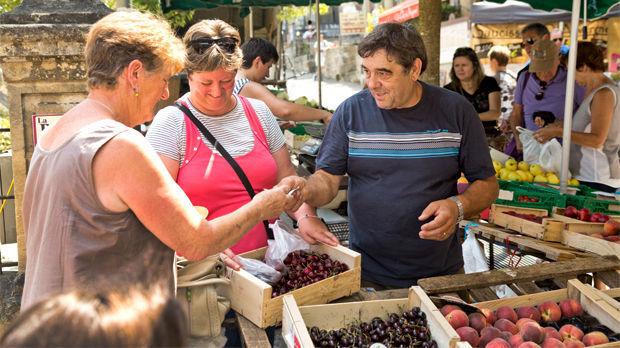 Produce market, Sarlat-la-Canéda, France