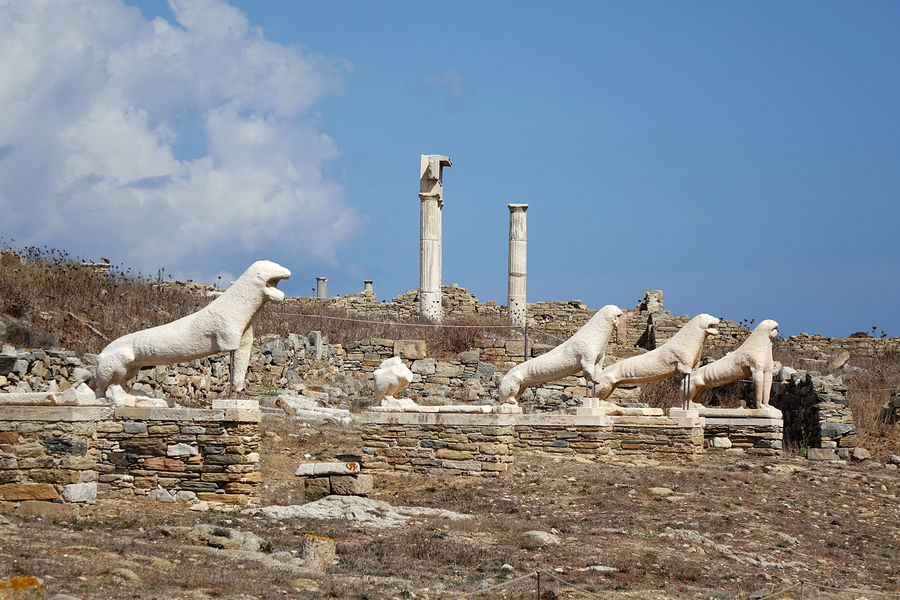 Lions of the Naxians, Delos, Greece