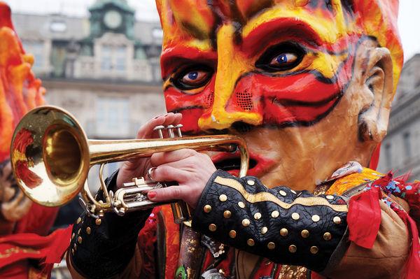 Fasnacht carnival musician, Luzern, Switzerland