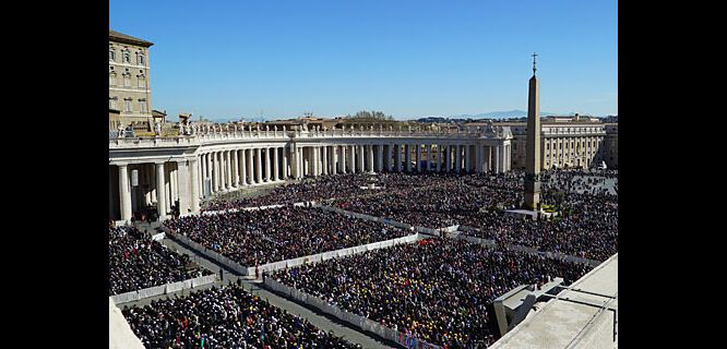 St. Peter's Square at Easter Mass, Vatican City, Rome, Italy