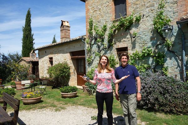 Isabella and Carlo of Agriturismo Cretaiole, near Pienza, Italy