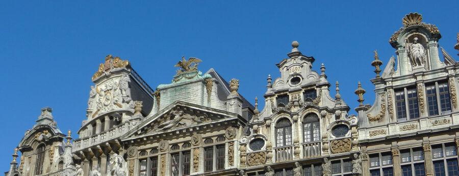 Roofline in Grand Place / Grote Markt, Brussels, Belgium