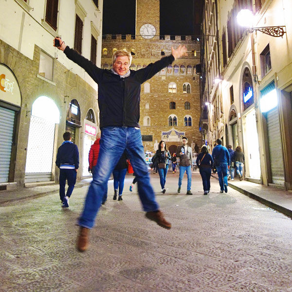 Happy Rick in Florence, Italy