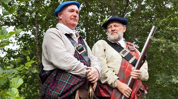 Tartan pride in Glencoe, Scotland