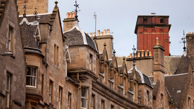 Cockburn Street gables, Edinburgh, Scotland
