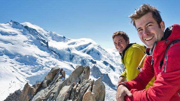 Mt. Blanc as seen from Aiguille du Midi, near Chamonix, France