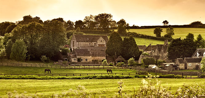 Cotswolds farmland, England