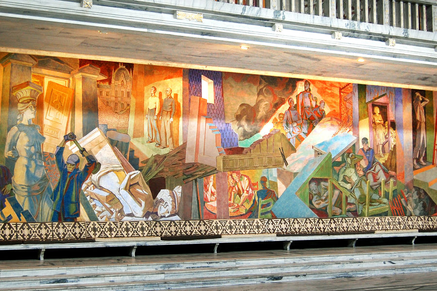 Mural of the Occupation, City Hall, Oslo, Norway