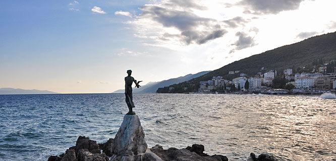 Seaside statue, Opatija, Croatia