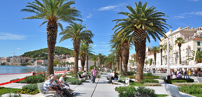 Riva waterfront, Split, Croatia