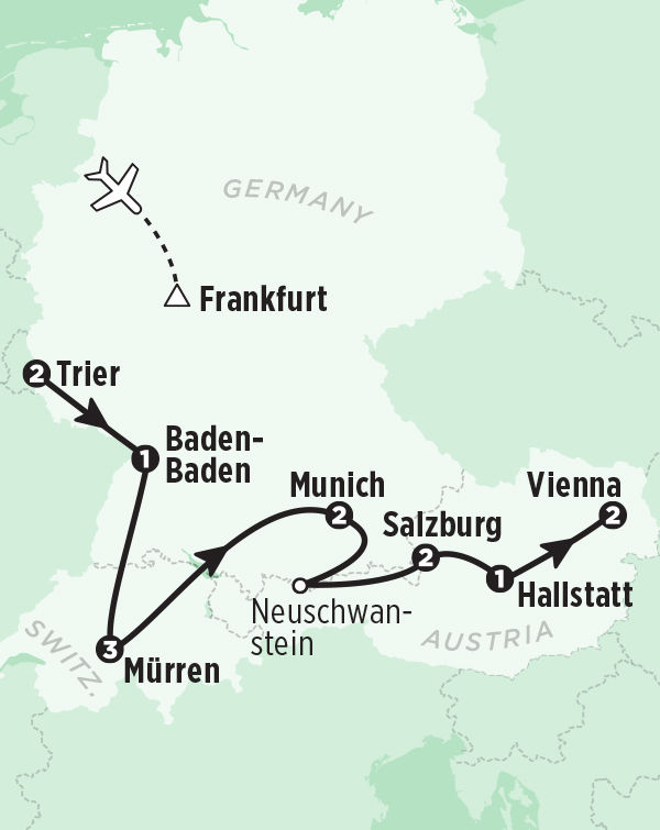 Tour Germany Austria Switzerland in 14 Days – Map of Germany and Holland Together