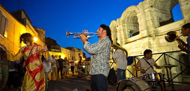 Street party, Arles, France