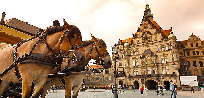 Schlossplatz and Royal Palace, Dresden, Germany