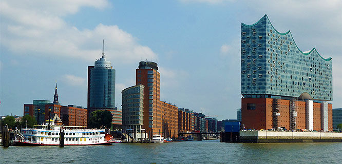 HafenCity and Elbphilharmonie concert hall, Hamburg, Germany
