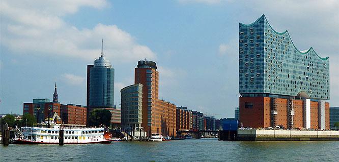 HafenCity and Elbphilharmonie concert hall, Hamburg, Germany