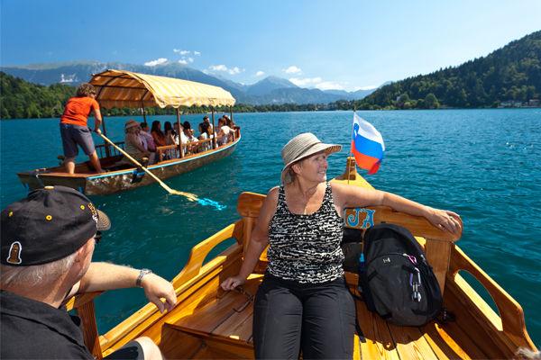 Pletna boat ride, Lake Bled, Slovenia