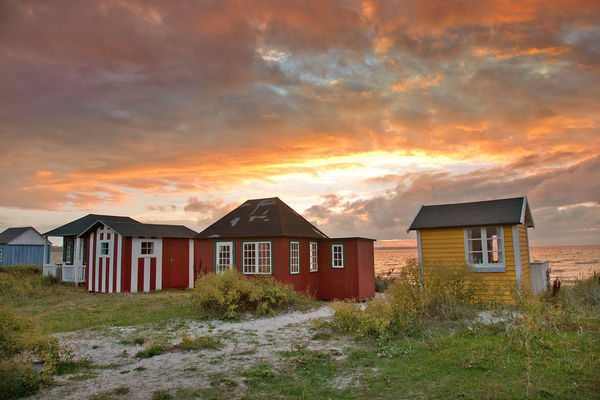Urehoved Beach bungalows, Ærøskøbing, Denmark