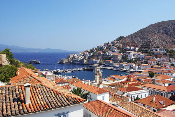 Harbor, Hydra, Greece