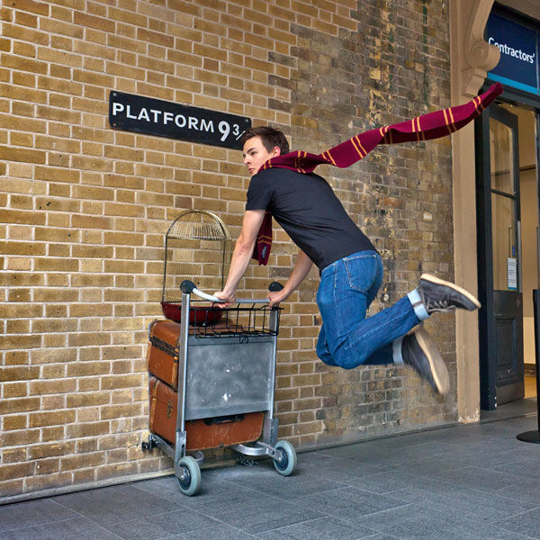 Platform 9¾, King's Cross Station, London, England