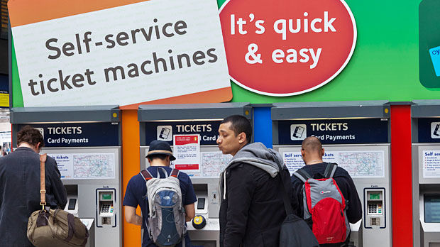 Transit ticket machines, London, England