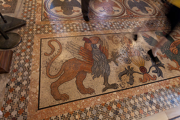Mosaic floor, St. Mark's Basilica, Venice, Italy