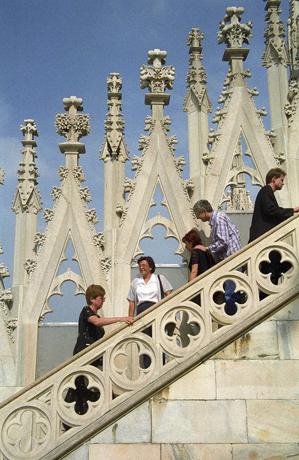 Duomo staircase, Milan, Italy