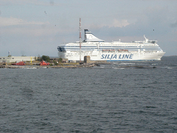 Ferry docked in Helsinki, Finland
