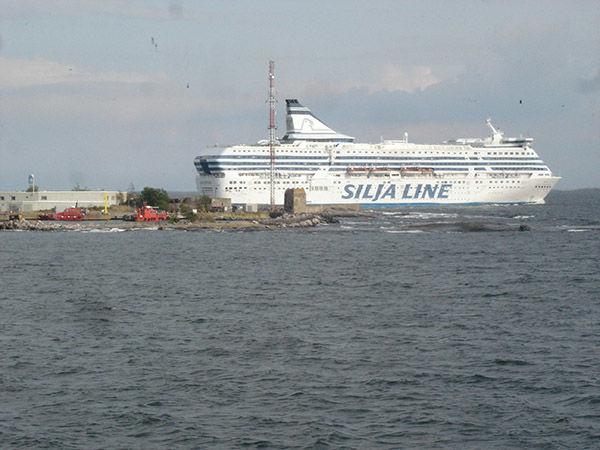Ferry docked in Helsinki, Finland