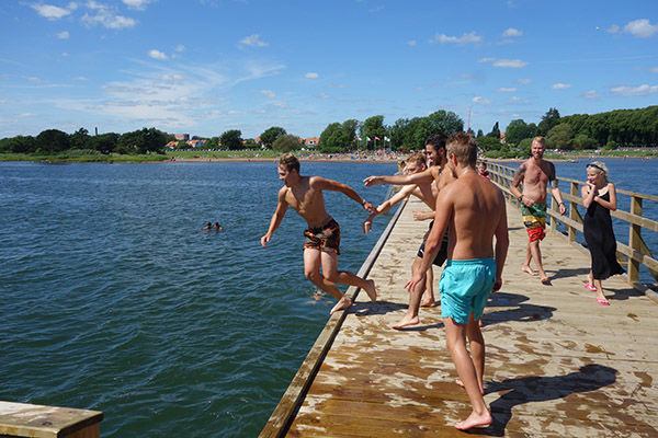 Swimming in Kalmar, Sweden
