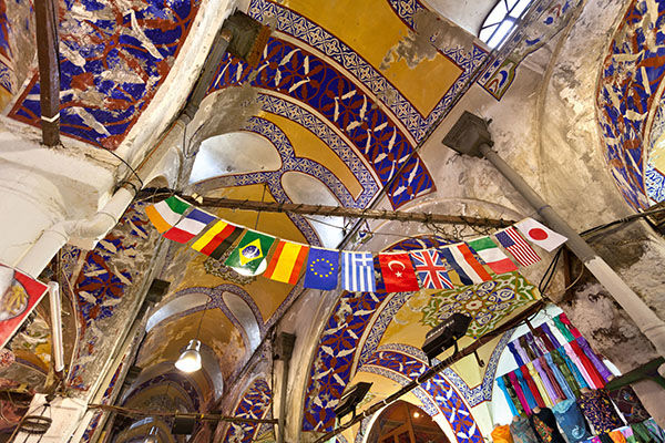 Ceiling of the Grand Bazaar, Istanbul, Turkey