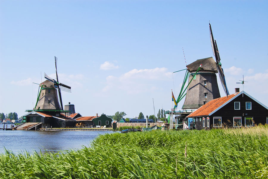 Windmills at Zaanse Schans, Netherlands