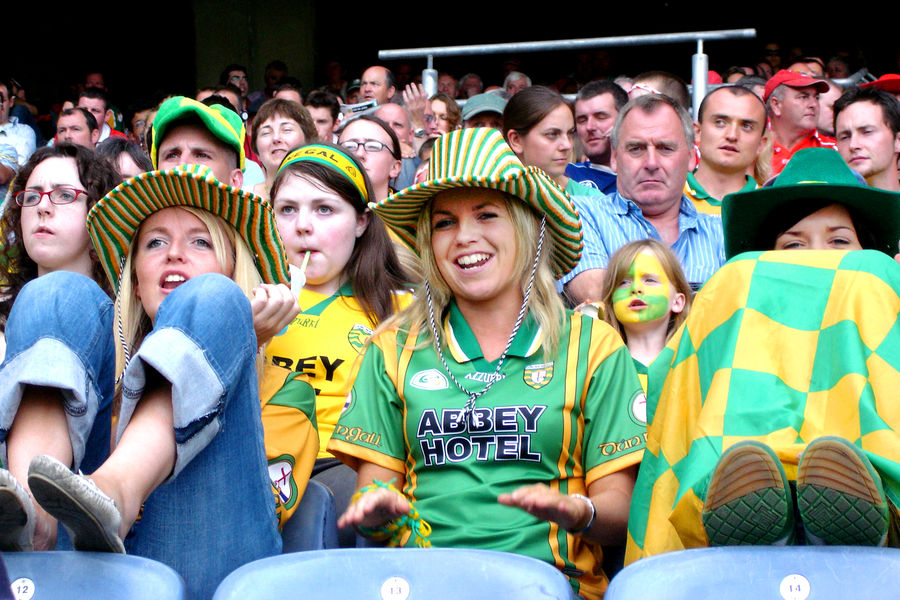 Gaelic football match at Croke Park Stadium, Dublin, Ireland