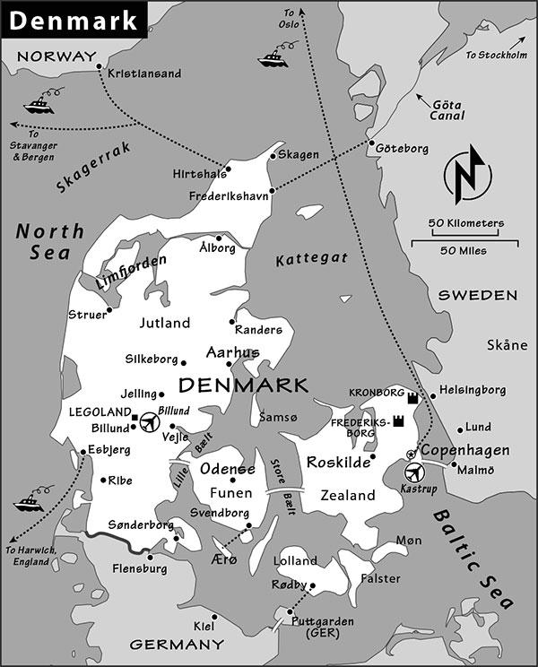Denmark Travel Guide by Rick Steves – Germany Denmark Map