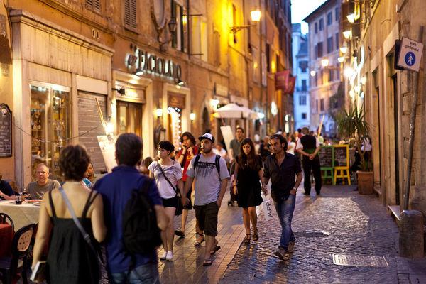 Passeggiata time in Rome, Italy